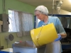 Sister Pam mixing the altar bread batter