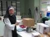 Sister Rita preparing an order for shipment