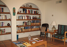 The retreat house library