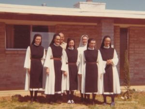 Our Santa Rita Foundresses and chaplain in March 1972