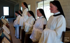 Santa Rita Abbey Nuns at one of their seven daily hours of the Divine Office