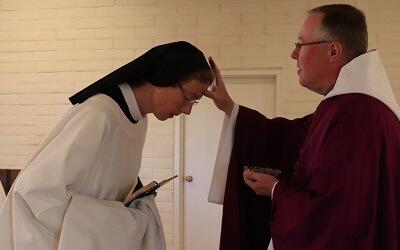 20190306 SantaRitaAbbey Ash Wed Mass Fr Olaf Pam(10a)sm