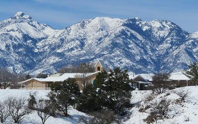 20190224 SantaRitaAbbey snow abbey view ENE (55hp)